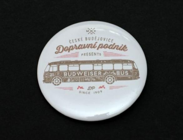 Placka připínací - motiv autobus