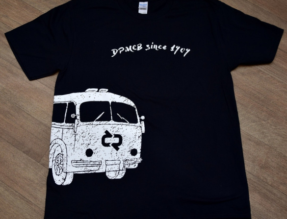 Tričko pánské, motiv autobus, černé