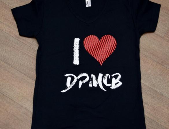 Tričko dámské , motiv I love DPMCB, černé