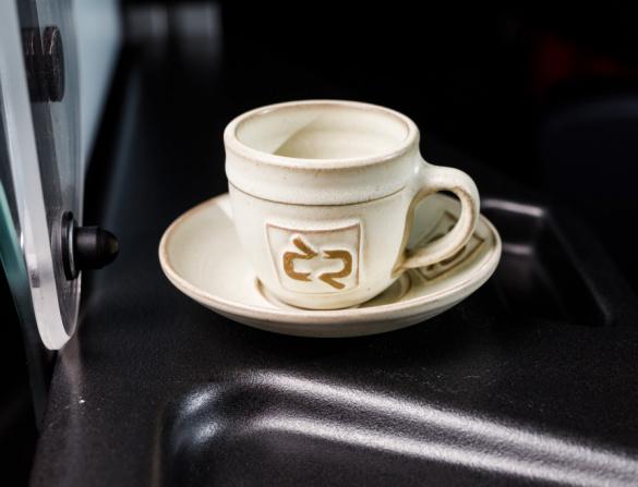 Keramický šálek na Espresso s podšálkem