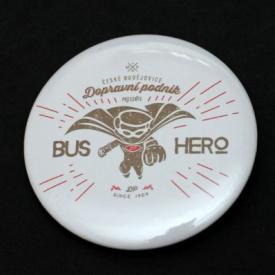 Button badge - bus hero