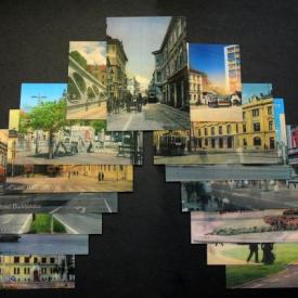 Postcards depicting changes
