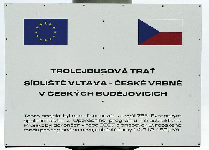 Trolejbusová trať sídliště Vltava - České Vrbné v Českých Budějovicích