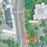 Dočasný přesun zastávky U Soudu (směr Senovážné náměstí)
