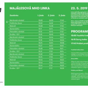 Centrem města bude opět projíždět Majálesová linka MHD.
