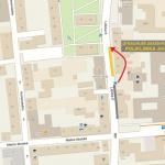Dočasný přesun zastávky Poliklinika Jih (směr centrum)