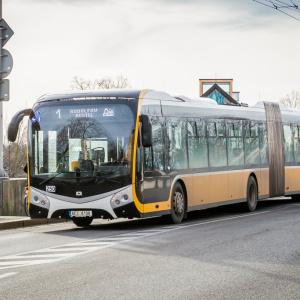 Dopravní podnik města České Budějovice testuje nový autobus SOR NS 18 diesel