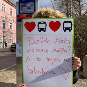 Valentýnské jízdy Dopravního podniku města České Budějovice