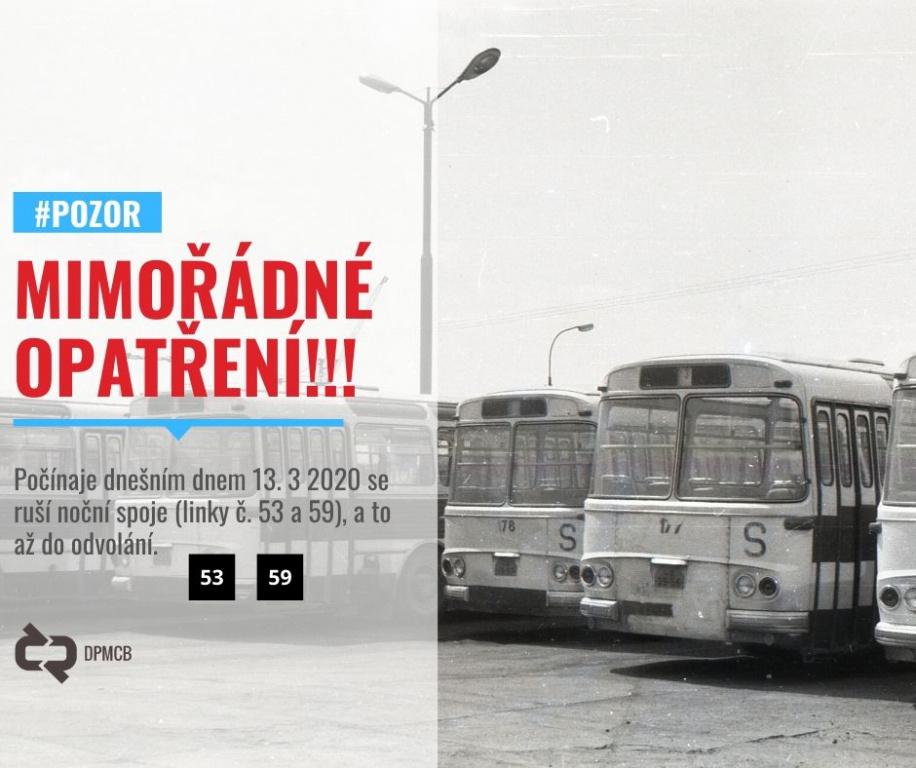 Českobudějovická MHD se bude od středy 11. 3. 2020 řídit prázdninovými jízdními řády
