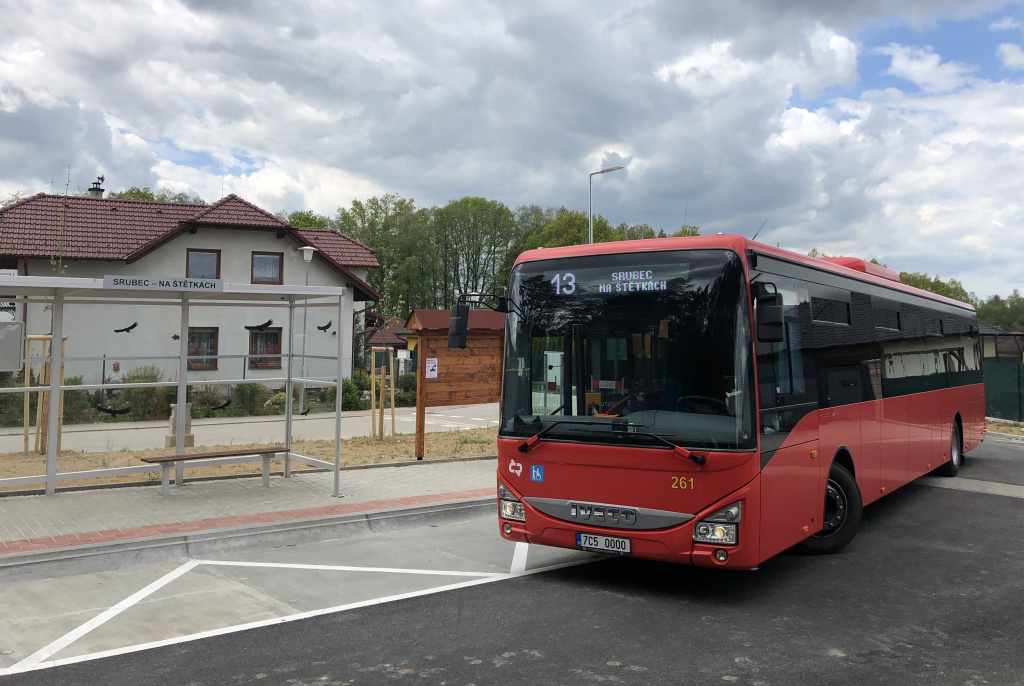 Trasa linky 13 bude v obci Srubec prodloužena