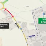 Dočasné zrušení zastávky Areál VŠTE a odklon linky 12