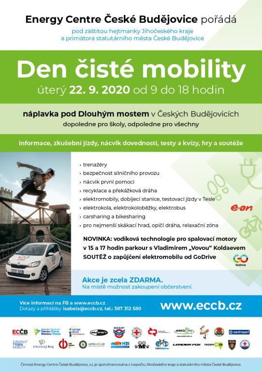 Den čisté mobility proběhne 22. 9. 2020